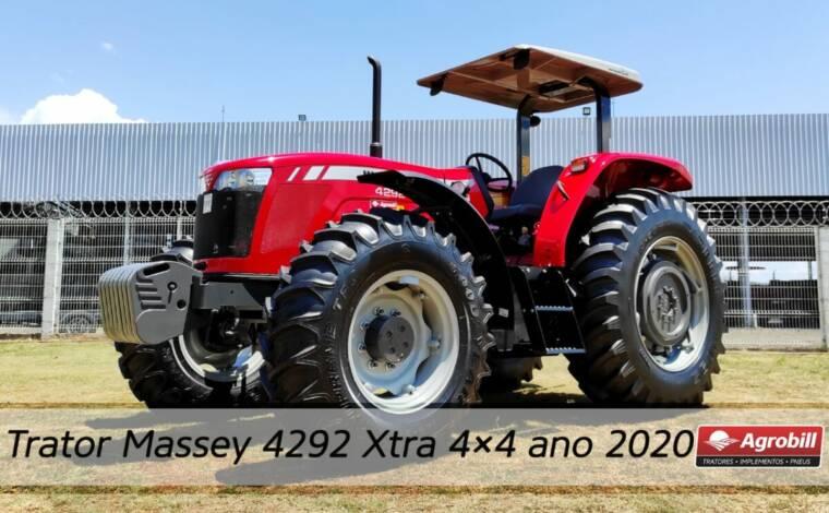 Trator MF 4292 4×4 ano 2020 novinho sem uso - Tratores - Massey Ferguson - Agrobill - Tratores, Implementos Agrícolas, Pneus